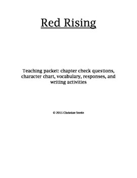 Red Rising teaching packet and curriculum