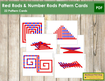 Red Rods & Number Rods - Pattern Cards