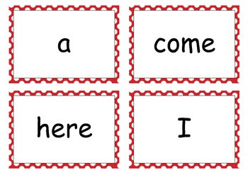 Red Sight Words