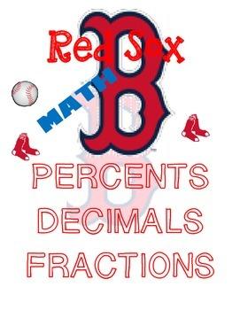Red Sox Baseball-Decimals, Fractions, & Percents