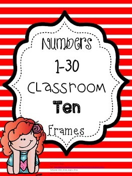 Red Striped Classroom Ten Frames