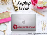 "Red ""Teacherpreneur"" Laptop Decal"