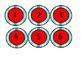 Red Teal Black Soos Numbers