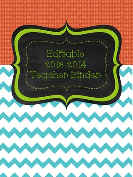 Red, Teal and Lime Ultimate Teacher Binder