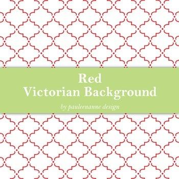 Red Victorian Pattern Background