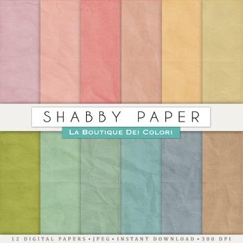 Vintage Shabby Digital Paper, scrapbook backgrounds