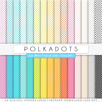 Rainbow Small Polkadots Digital Paper