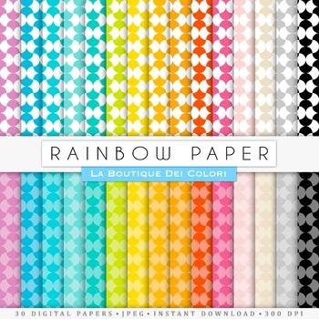 Rainbow Pattern Digital Paper