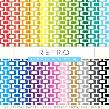 Rainbow Retro Digital Paper