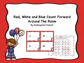 Red, White, And Blue Count Forward Around The Room