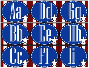 Red White and Blue Patriotic Banner and Label Assorted Bun