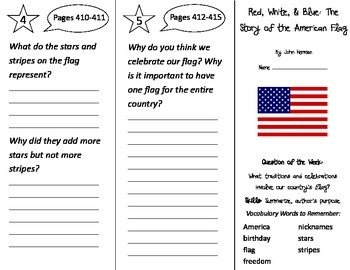 Red White and Blue Trifold - Reading Street 2nd Grade Unit