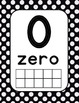 Number Cards 0-20 Red and Black Polka Dot (Ladybug)
