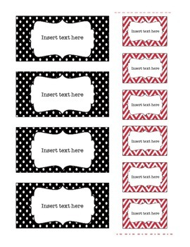 Red and Black Teacher Toolbox Templates (Editable)