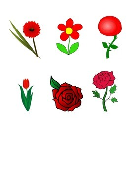 Red and Blue Flower Sorting Game