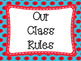 Red and Blue Themed Class Rules