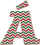 Red and Green Chevron Alphabet – Full Set With Latin Lette