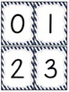 Red and Navy Patterns Number and Letter Cards (Nautical; P