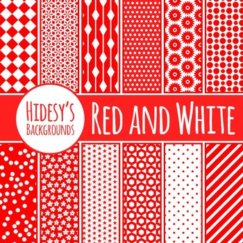 Red and White Backgrounds/ Digital Papers / Patterns Clip