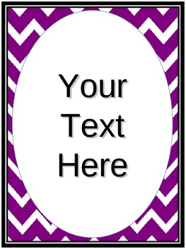 Red and White and Purple and white Chevron with Editable t