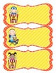 Movie Night Cinema Name Tags - Red and Yellow
