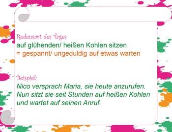 Redensart des Tages - Vol. 1 - German idioms