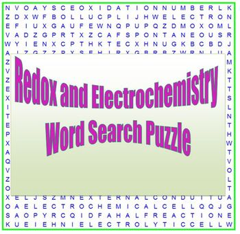 Redox & Electrochemistry: a fun word search puzzle for HS