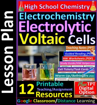 Voltaic & Electrolytic Cells  - Worksheets & Practice Ques