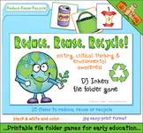 Reduce, Reuse, Recycle File Folder Game Download