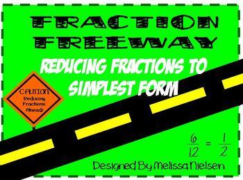 Math Simplest Form Fraction Activity