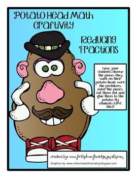 Reducing Fractions Potato Head Craftivity