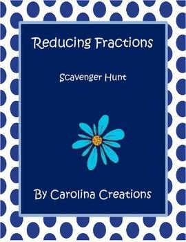 Reducing Fractions Scavenger Hunt