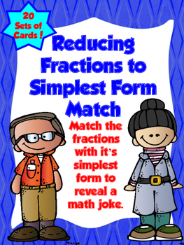Reducing Fractions to Simplest Form Match
