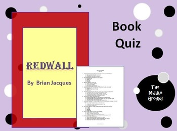 Redwall by Brian Jacques Book Quiz / Book Test