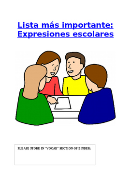 Reference - Lista más importante: List of Common Spanish C