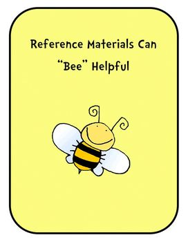 """Reference Materials Can """"Bee"""" Helpful : Craftivity, Book,"""
