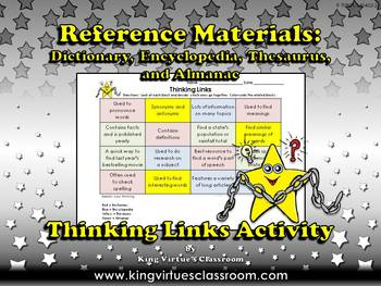 Reference Materials: Dictionary Encyclopedia Thesaurus Alm