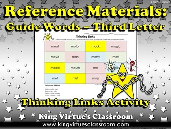Reference Materials: Guide Words (ABC Order) Thinking Link