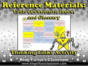 Reference Materials: Table of Contents, Glossary, and Inde