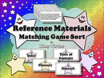 Reference Materials: Table of Contents, Index, Glossary, a