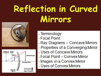 Reflection In Curved Mirrors - Optics PowerPoint Lesson &