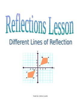 Reflections Lesson - Different Lines of Reflections