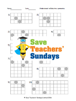 Reflective Symmetry lesson plans, worksheets and other tea