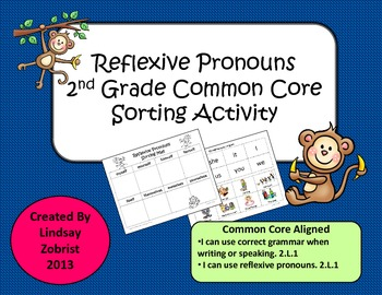 Reflexive Pronouns: 2nd Grade Common Core Sorting Activity