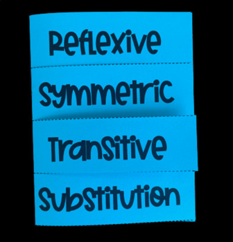Reflexive, Symmetric, Transitive, & Substitution Propertie