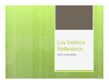 Spanish Advanced Reflexive Verb Notes