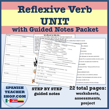 Reflexive Verb Unit Lesson Plan Packet