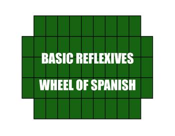 Spanish Reflexive Verb Wheel of Spanish