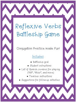 Reflexive Verbs Battleship Game