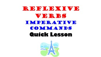 Reflexive Verbs, Reflexive Pronouns (Imperative, Commands)